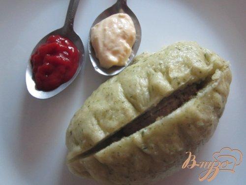 Паровые пирожки с мясом и  пикантными овощами
