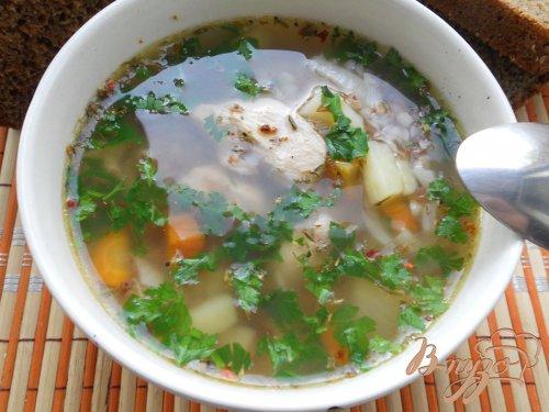 Гречневый суп с куриным филе