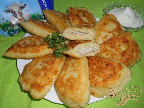 Пирожки с мясом из картофельного теста
