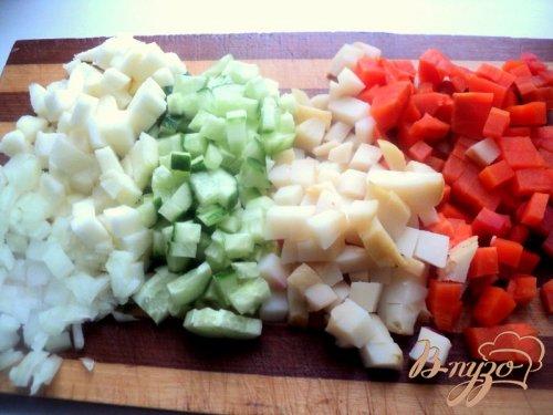 Винегрет с фасолью и сельдью