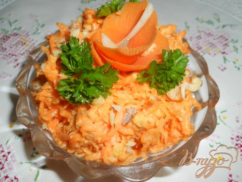 Морковь с чесноком и майонезом