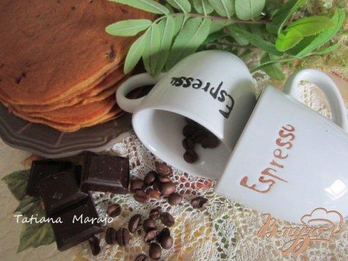 Кофейные оладьи с шоколадом