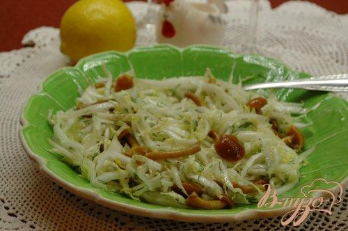 Салат из пекинской капусты с опятами