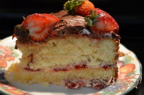 Клубничный маршмэллоу торт