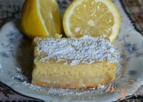 Кремовые лимонные квадратики