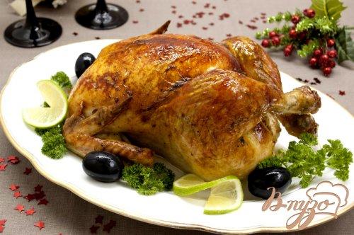 Курица запеченная, маринованная в лаймовом соке