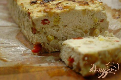 Террин из куриного филе со сладким перцем и кукурузой