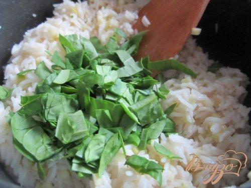 Рисовые биточки с яблоком , сыром и шпинатом