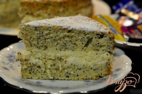 Лимонно-маковый торт