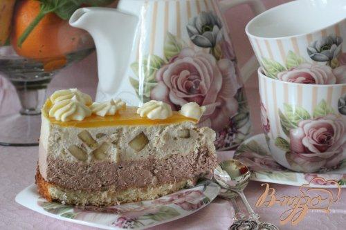 мангово-банановый торт-мусс