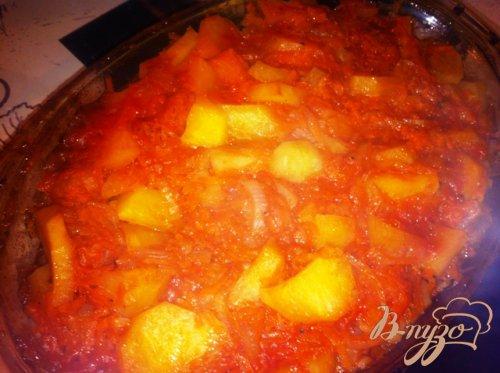 Тушеная картошечка с овощами.