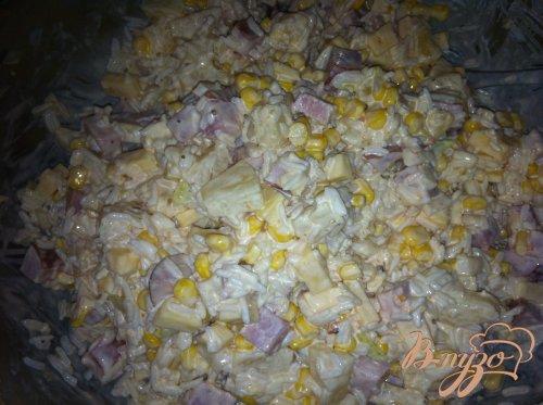 Вкусный салат «Сытный»
