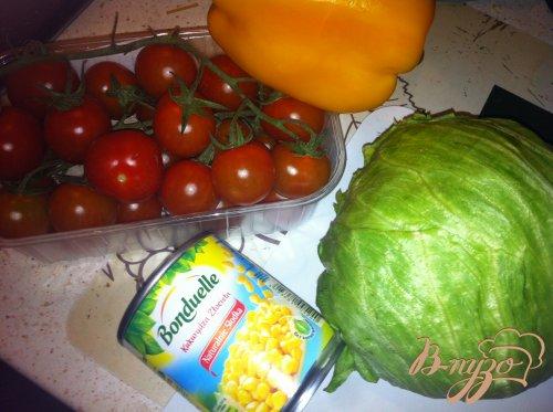 Легкий салат с мясом гриль