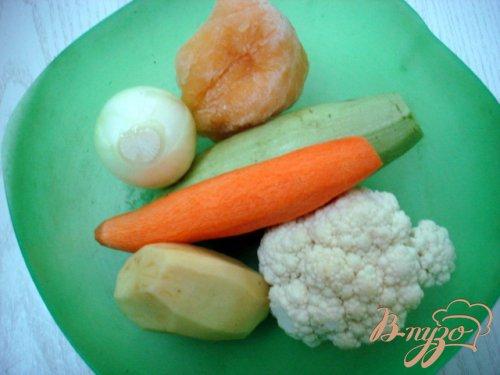 Суп пюре из кабачков с яичным суфле