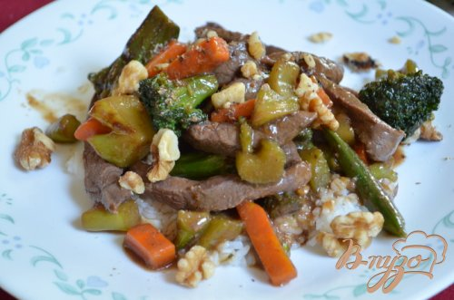 Говядина стир-фрай с овощами