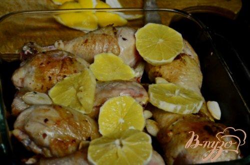 Курица с лимоном и чесноком