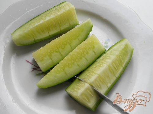 Оригинальная закуска из огурцов и редиса