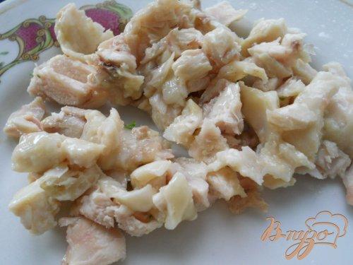 Салат из курицы и клубники