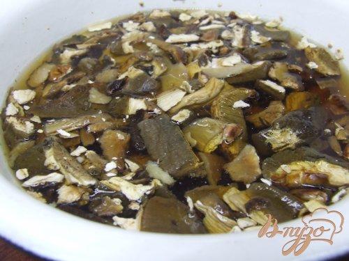 Рис с мясом и белыми грибами