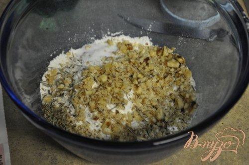 Песочное печенье  с розмарином и грецкими орехами