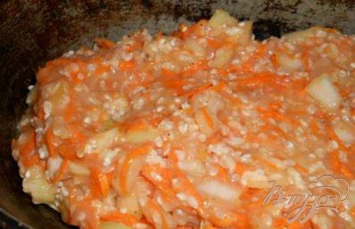 Капуста тушеная с рисом и фаршем