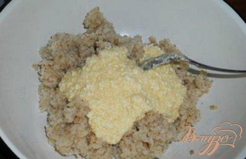 Запеканка из пшеничной крупы с творогом и черносливом