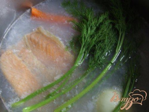 Суп из хребта семги