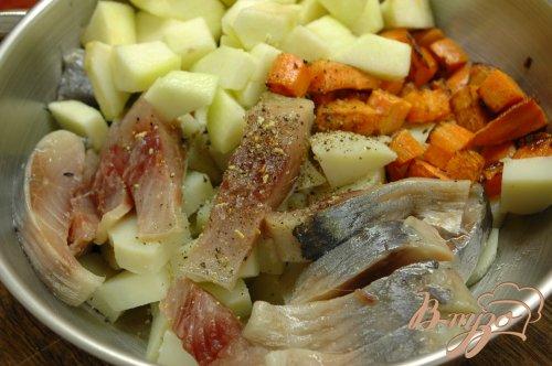 Салат с сельдью и морковью