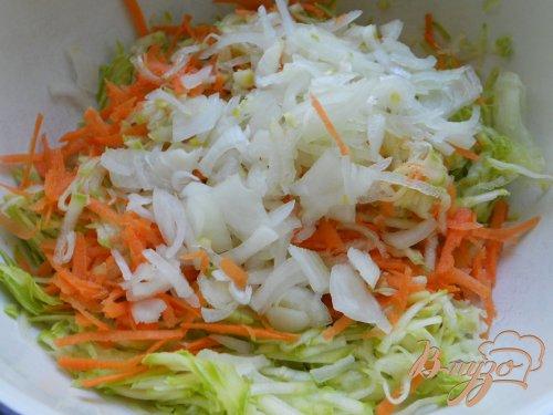 Оладьи из кабачков и моркови с припеком из грибов