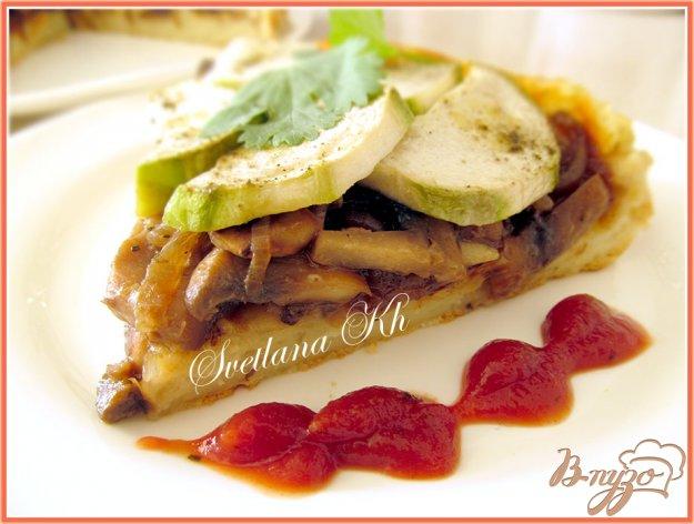 Рецепт Картофельный пирог с грибами и кабачками