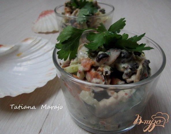 Рецепт Картофельный салат с мидиями
