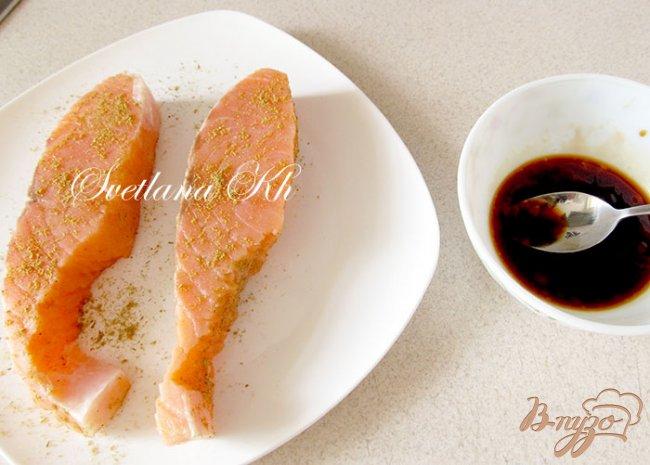 Фото приготовление рецепта: Семга по-китайски с гарниром из овощей шаг №1