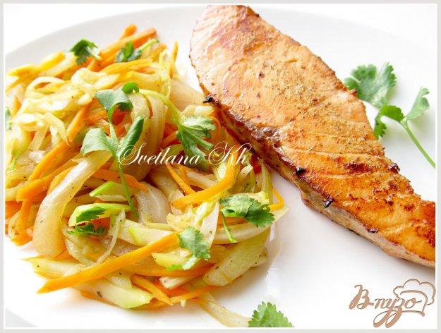 фото рецепта: Семга по-китайски с гарниром из овощей