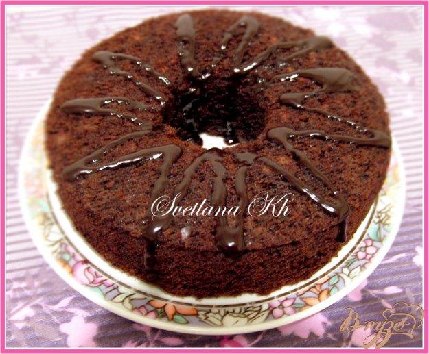 Рецепт Шоколадный кекс-бисквит с орехами