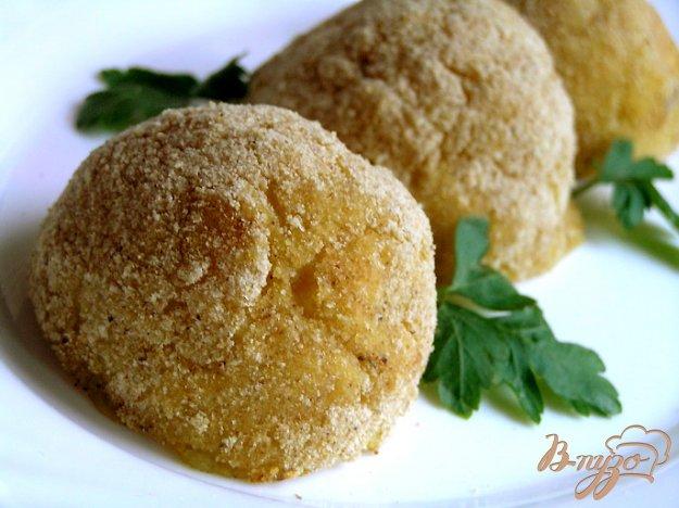 фото рецепта: Запеченные картофельные крокеты с грибами