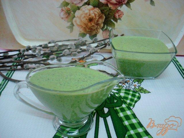 Фото приготовление рецепта: Зелёный соус шаг №5