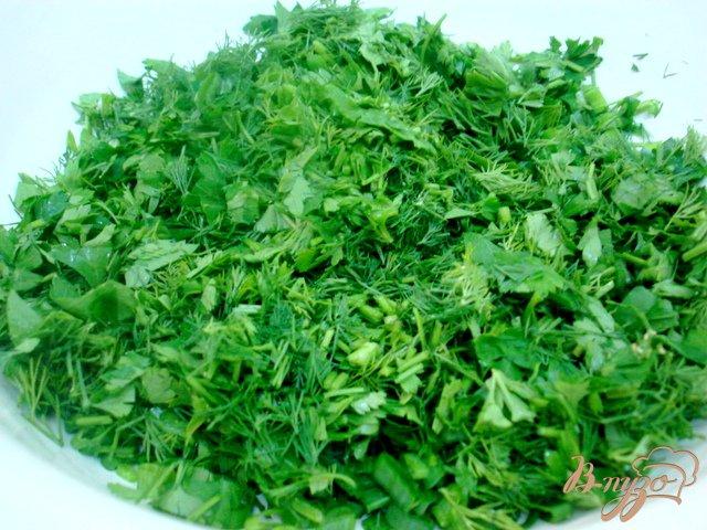 Фото приготовление рецепта: Зелёный соус шаг №2