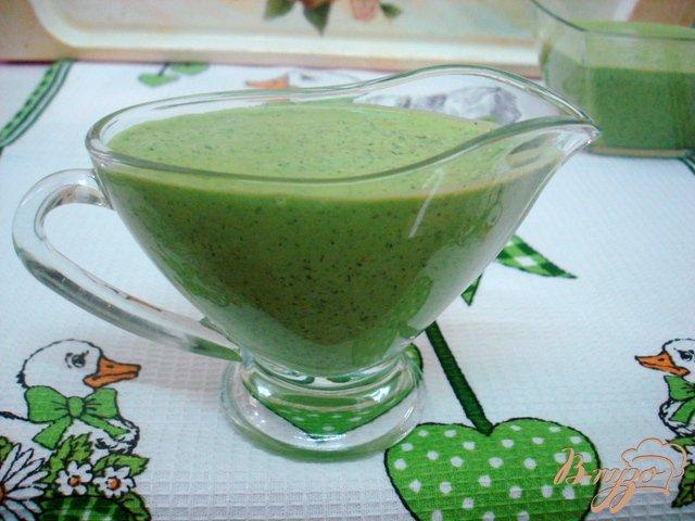 Фото приготовление рецепта: Зелёный соус шаг №6