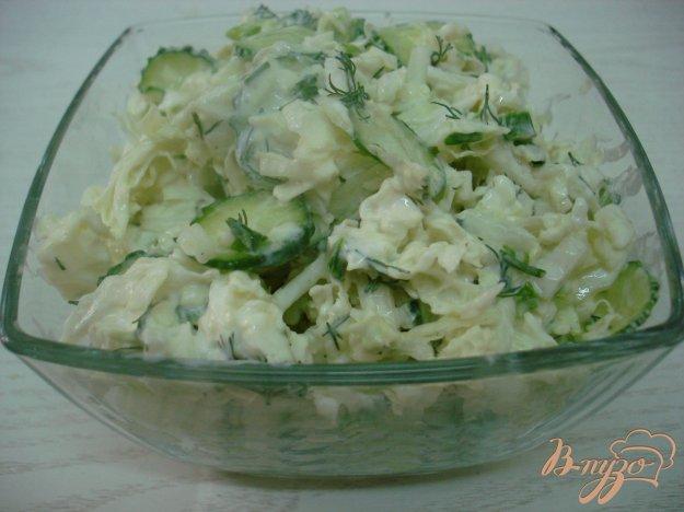 Рецепт Салат из пекинской капусты в кисло сладкой заправке