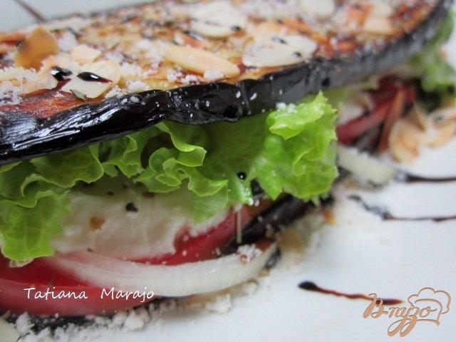 Фото приготовление рецепта: Баклажановый сендвич шаг №5