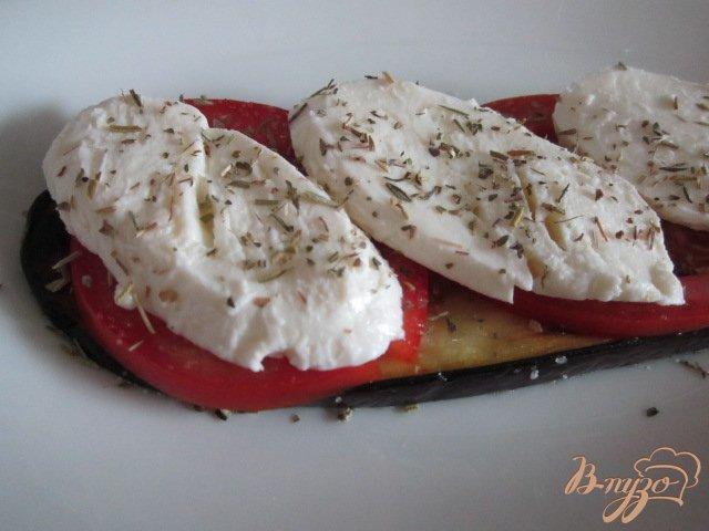 Фото приготовление рецепта: Баклажановый сендвич шаг №4