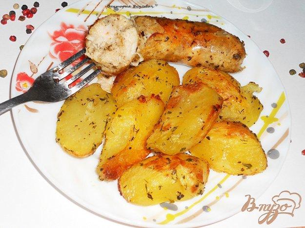 Рецепт Очень вкусная домашняя куриная колбаска - гриль
