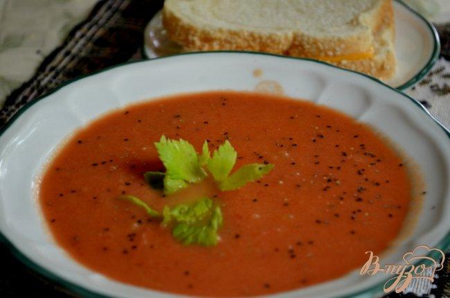 Фото приготовление рецепта: Быстрый томатный суп шаг №5