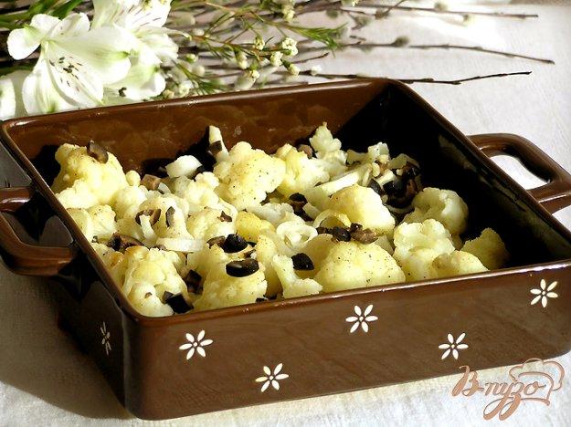 Рецепт Запеченная цветная капуста с заправкой из маслин