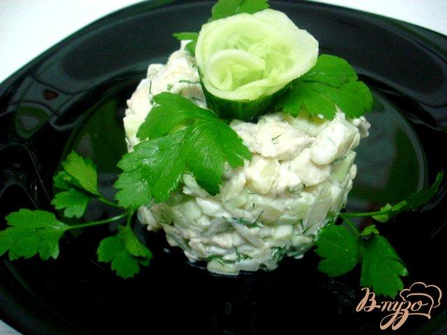 Фото приготовление рецепта: Салат из хека шаг №6