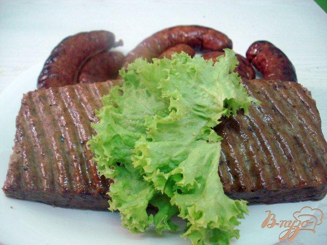 Фото приготовление рецепта: Печёночная колбаса шаг №8
