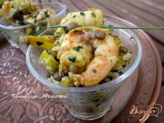 Рецепт Индийский салат с креветками