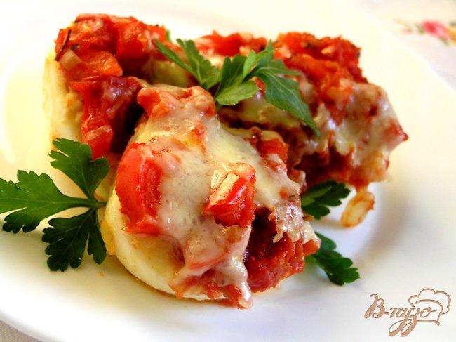 Фото приготовление рецепта: Закуска из яиц в красном соусе шаг №10