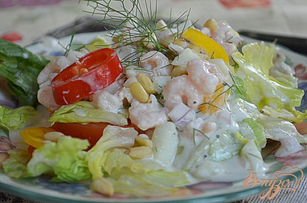 Рецепт Салат не простой с креветками