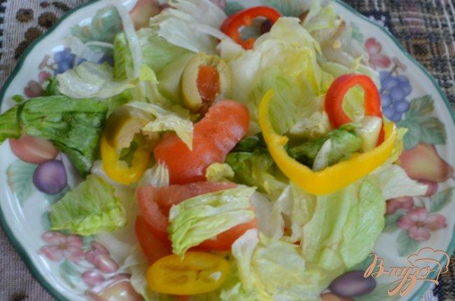 Фото приготовление рецепта: Салат не простой с креветками шаг №3